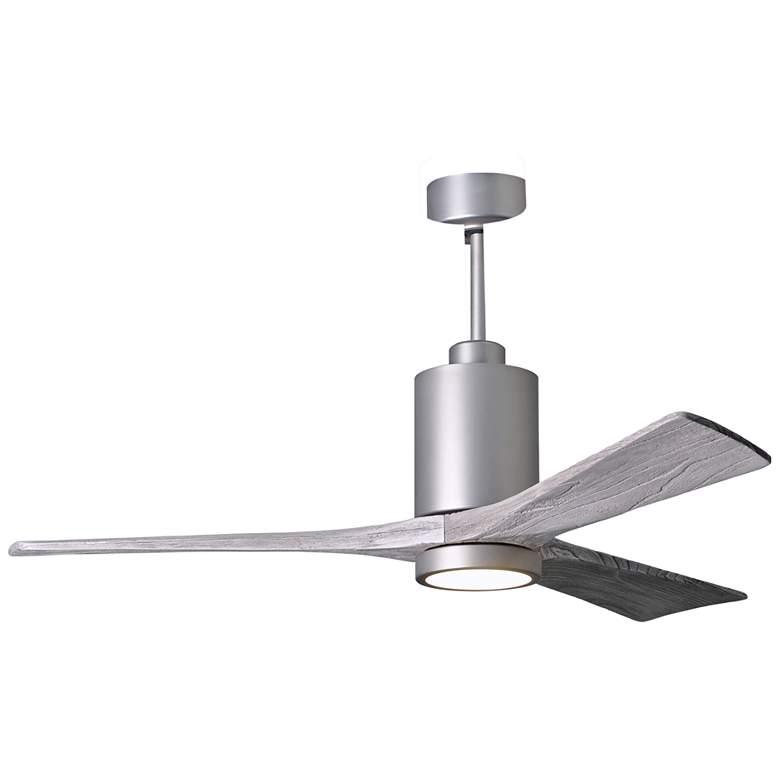 "52"" Matthews Patricia-3 Brushed Nickel LED Damp Ceiling Fan"