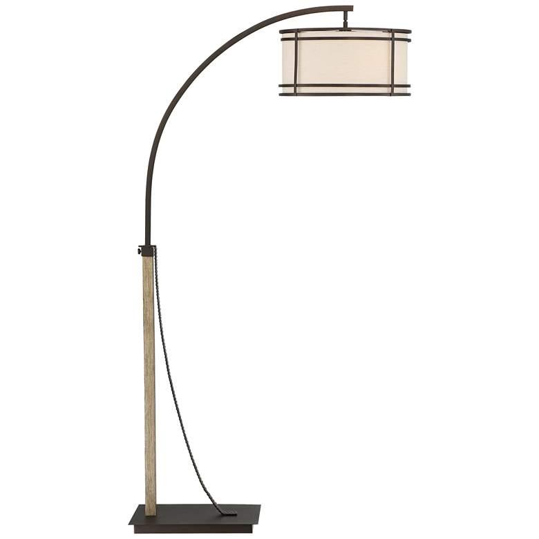 Gentry Oil-Rubbed Bronze Downbridge Arc Floor Lamp