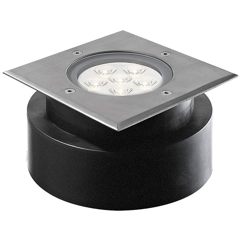 "Eurofase 6 3/4"" Square Steel LED Shallow In-Ground"