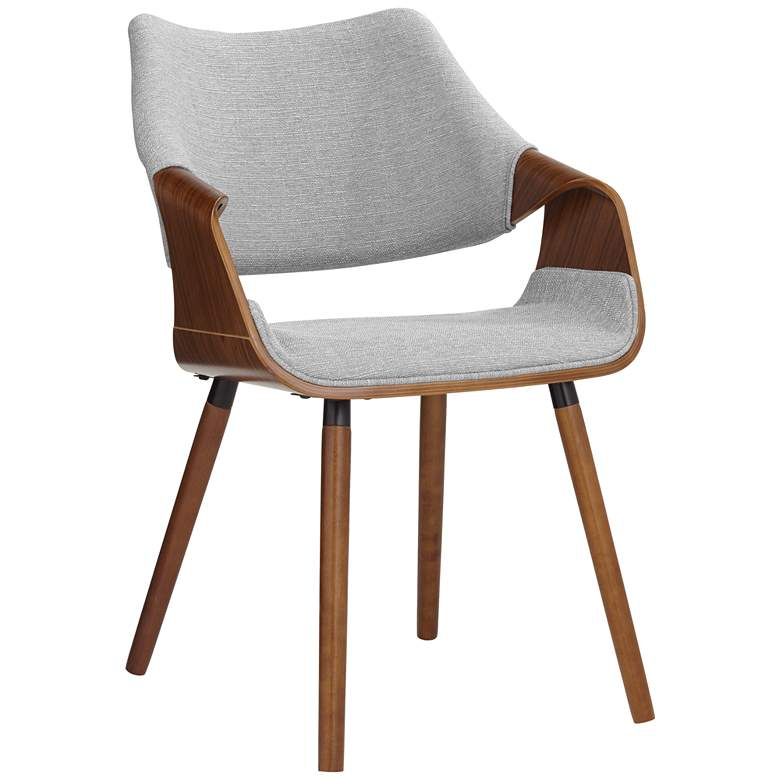 Westin Gray Fabric and Beech Wood Dining Chair