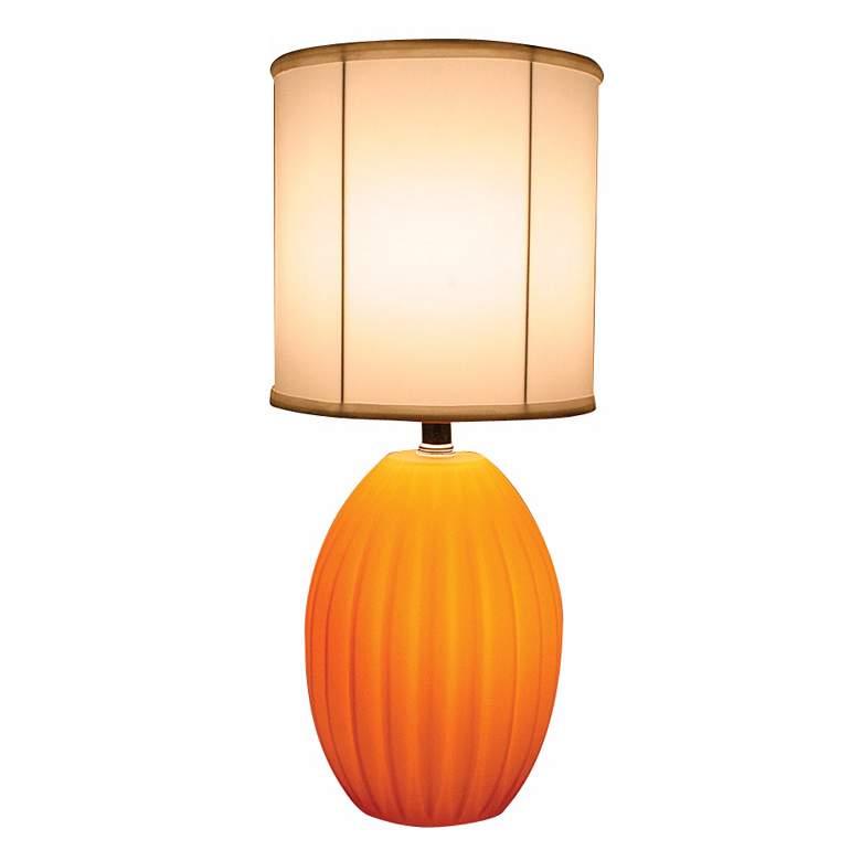 Orange Melon Glass Night Light Accent Table Lamp