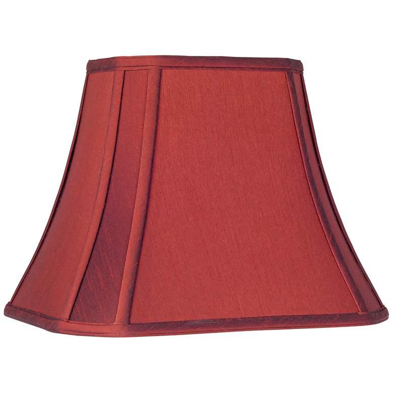Crimson Red Cut-Corner Lamp Shade 6/8x11/14x11 (Spider)
