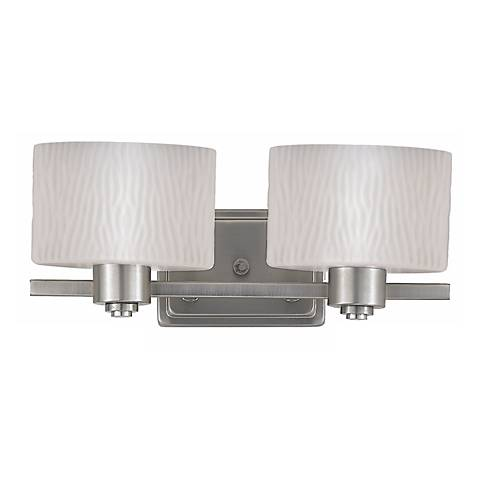 "Pacifica Collection 16"" Wide Two Light Bathroom Fixture"