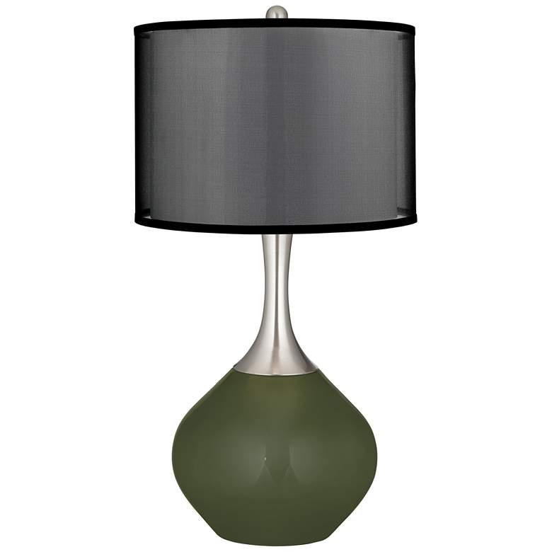 Secret Garden Spencer Table Lamp with Organza Black Shade