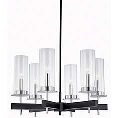 Sonneman Tuxedo 24 1 2W 6 Light Pendant Chandelier