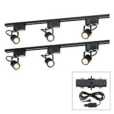 Pro Track Black 300w 6 Light Lv Plug In Linear Kit