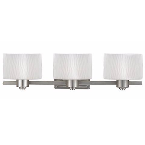 Pacifica Collection Wide Three Light Bathroom Fixture - Three light bathroom fixture