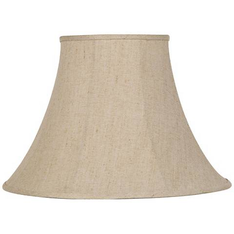 Ivory Bell Linen Lamp Shade 9x19x12.5 (Spider)