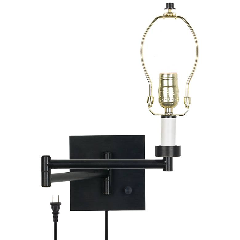 Dimmable Espresso Finish Plug-in Swing Arm Base