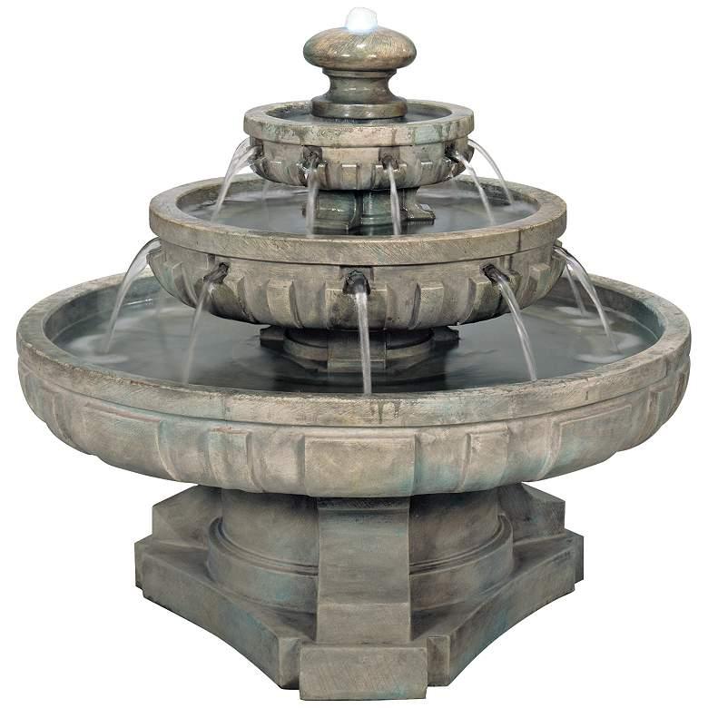 "Regal Tier 36"" Wide Large Garden Fountain"