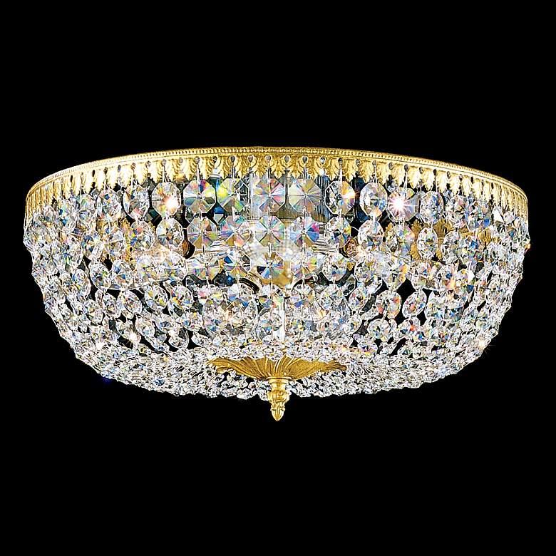 "Schonbek Rialto 18"" Wide Spectra Crystal Ceiling Light"