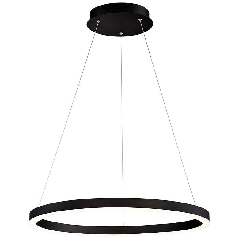 "Eurofase Spunto 27 1/2"" Wide Matte Black LED Pendant Light"
