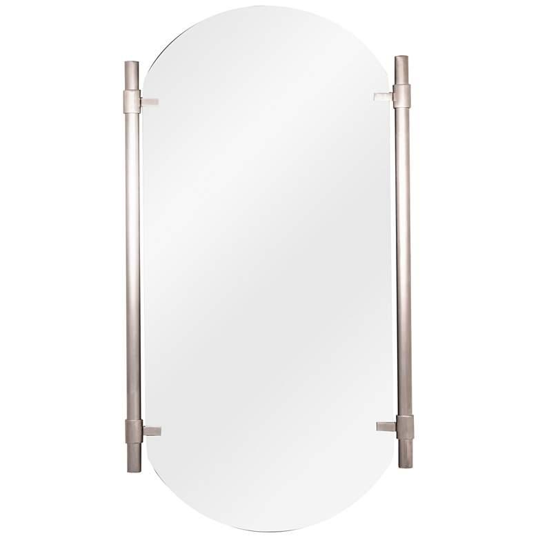 "Phoebe Silver 22 1/2"" x 33 1/2"" Frameless Wall Mirror"