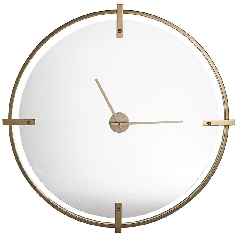 "Cooper Classics Electra Modern Gold 36"" Round Wall Clock"