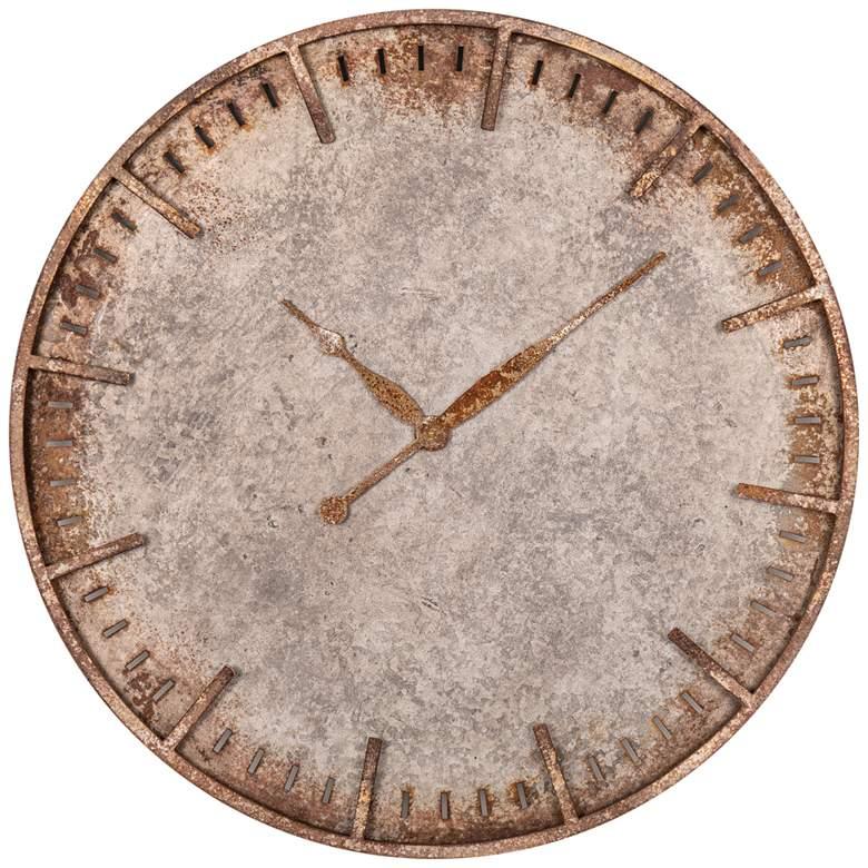 "Costello 27"" Wide Rustic Industrial Metal Wall Clock"