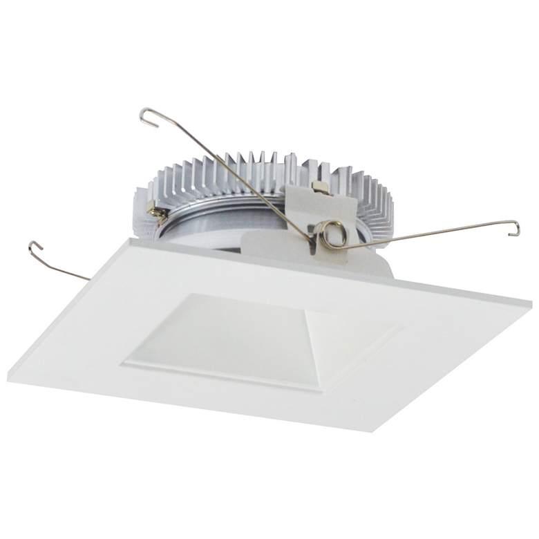 "Nora Cobalt 6"" White 1500lm LED Square-Square Reflector Trim"