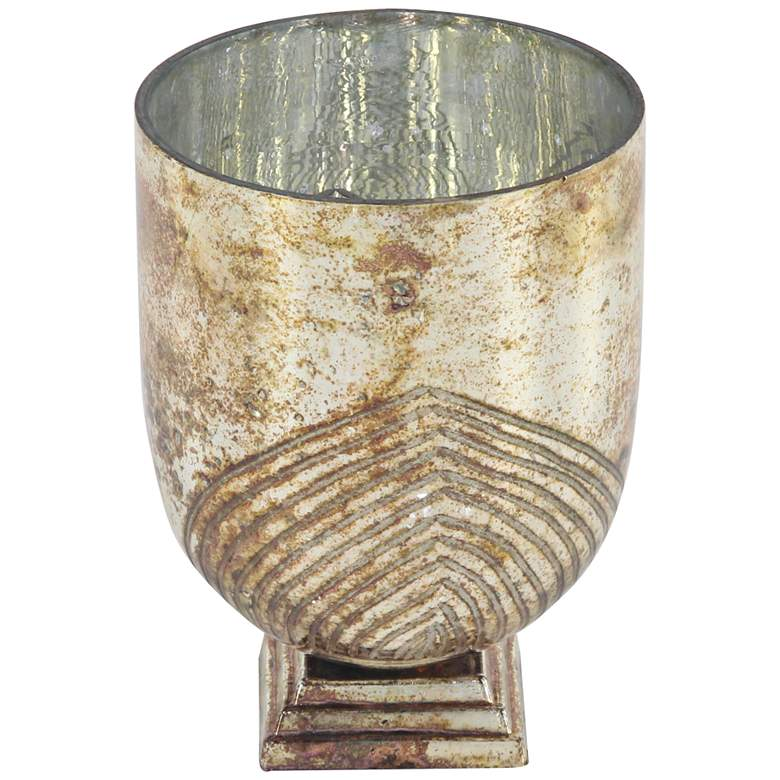 Hartford Patina Gold Cup Glass Votive Candle Holder
