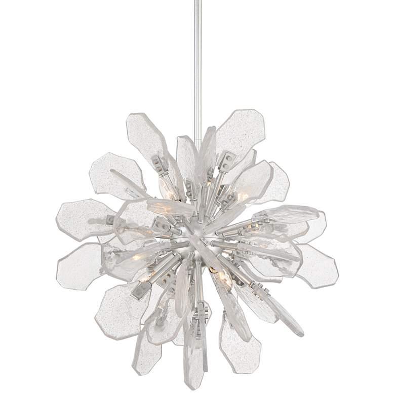 """Boris 21 3/4"""" Wide Silver Leaf 6-Light Sputnik"""