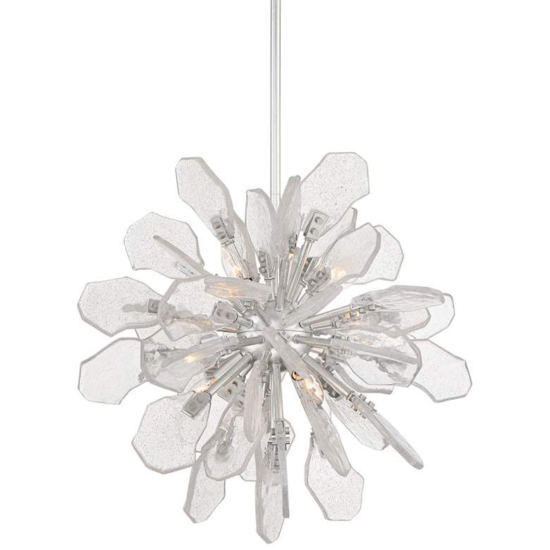 "Boris 21 3/4"" Wide Silver Leaf 6-Light Sputnik Pendant Light"