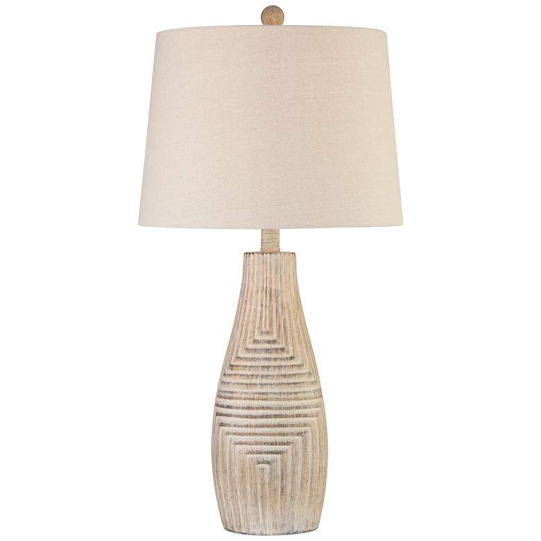 Chico Light Wood Southwest Rustic Table Lamp