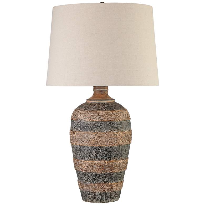Coloma Textured Black and Brown Southwest Jar Table Lamp