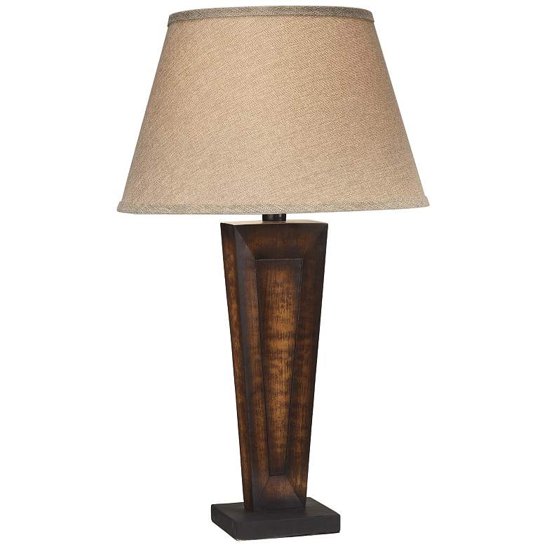 Barstow Yellow Walnut LED Table Lamp