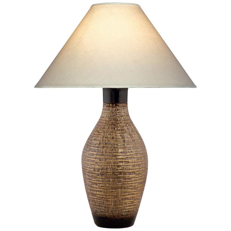St. Tropez Taupe Brown LED Vase Table Lamp