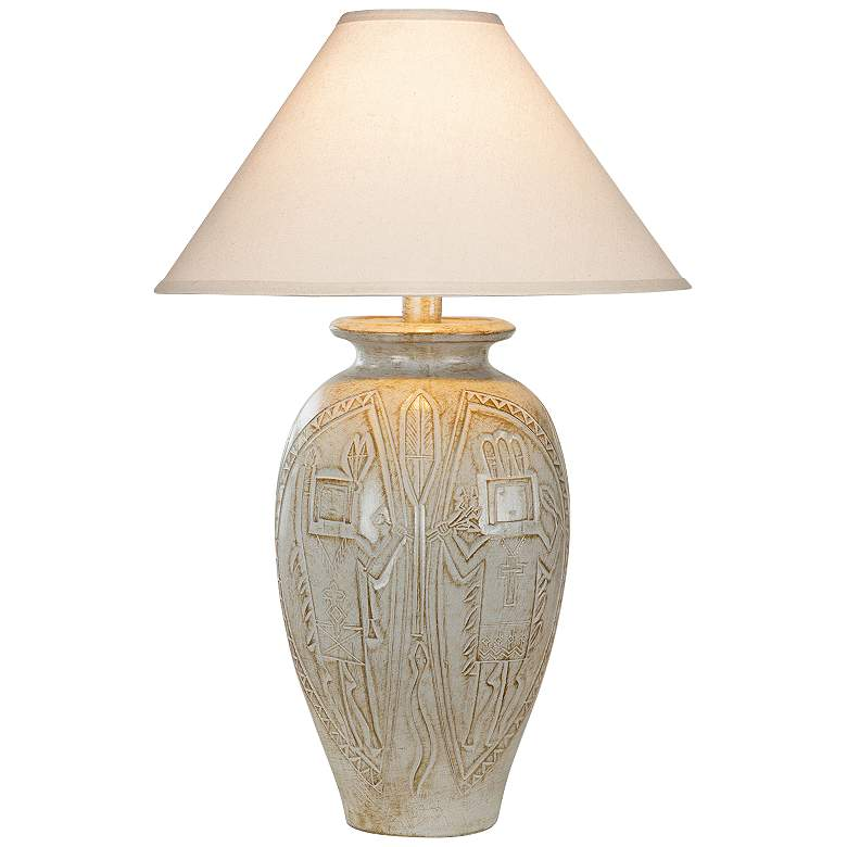 Montague White Oak LED Vase Table Lamp