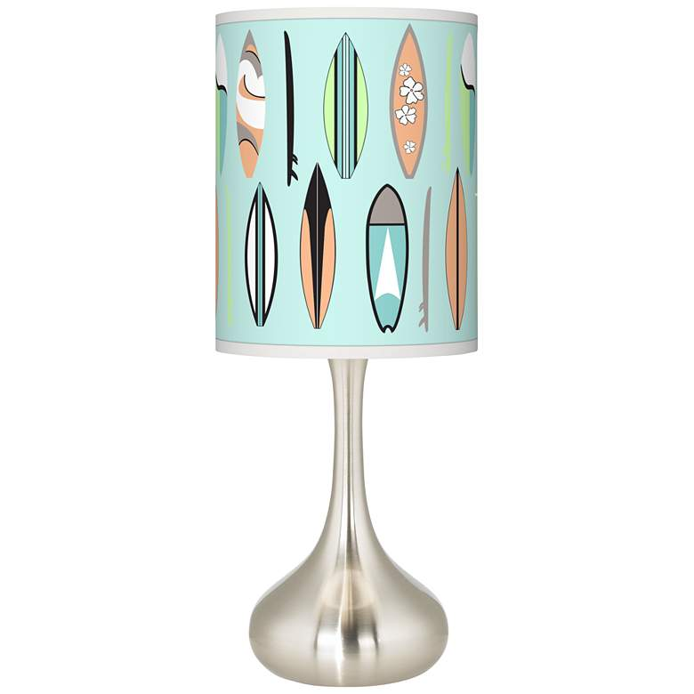 Retro Surf Giclee Droplet Table Lamp