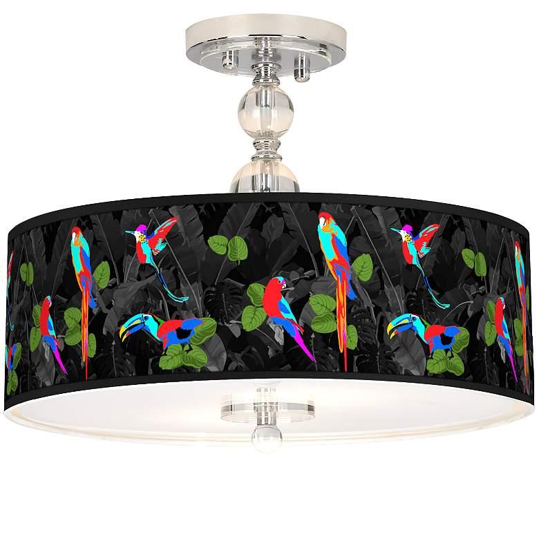 "Paradiso Giclee 16"" Wide Semi-Flush Ceiling Light"