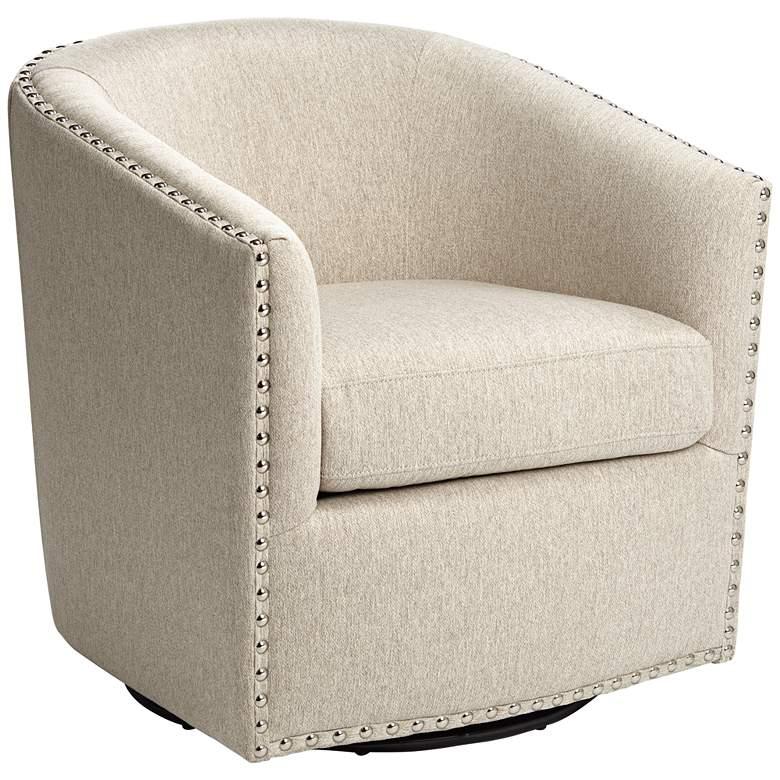 Fullerton II Oatmeal Swivel Accent Chair