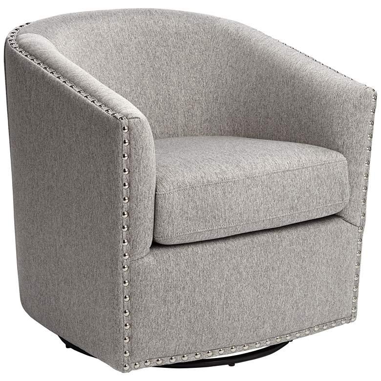Fullerton II Light Gray Swivel Accent Chair