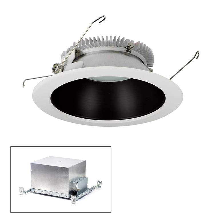 "Nora Cobalt 6"" Black-White 2000lm LED Round IC"