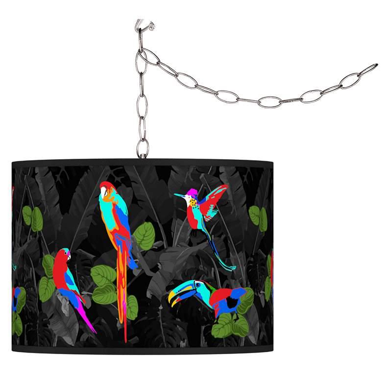 Paradiso Giclee Glow Plug-In Swag Pendant