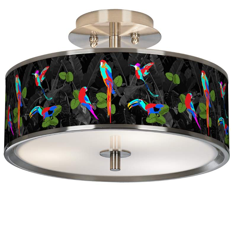 """Paradiso Giclee Glow 14"""" Wide Ceiling Light"""