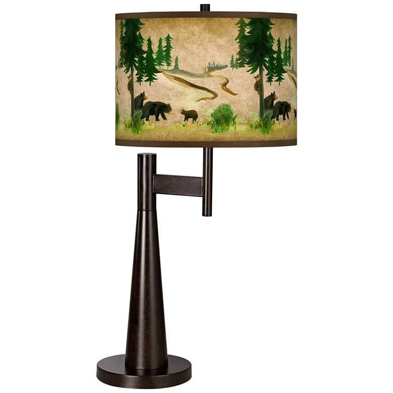 Bear Lodge Giclee Novo Table Lamp
