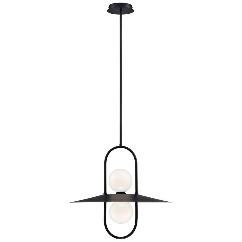"Eurofase Millbrook 20"" Wide Black 2-Light LED Pendant Light"