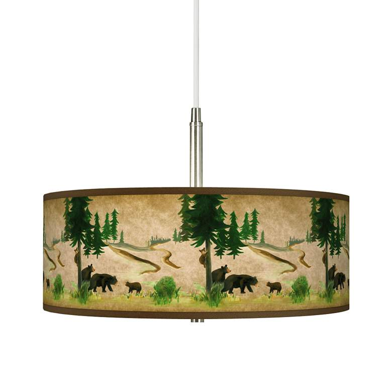 Bear Lodge Giclee Pendant Chandelier