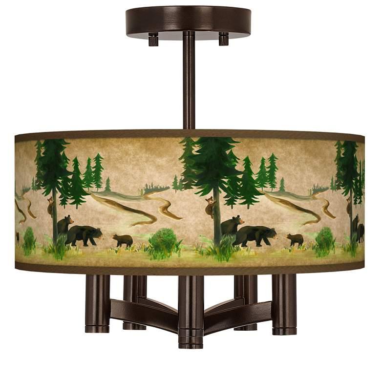 Bear Lodge Ava 5-Light Bronze Ceiling Light