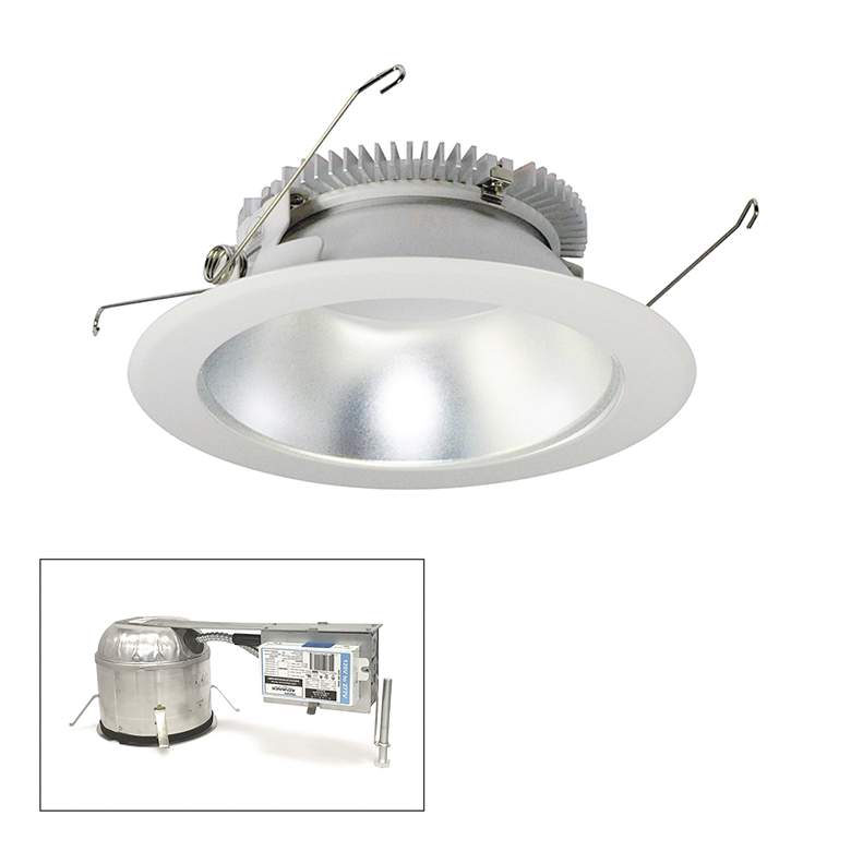 "Cobalt 6"" Clear-White 1500lm LED Round Remodel Recessed"