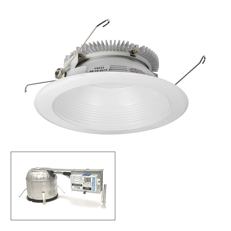 "Cobalt 6"" White 1500lm LED Round Baffle Remodel Recessed Kit"