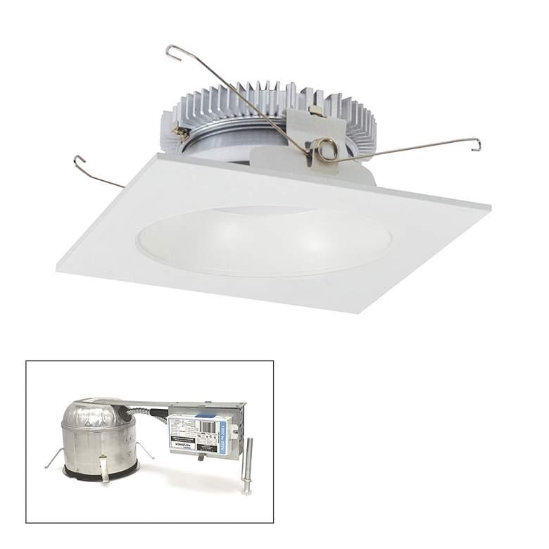 "Cobalt 6"" White 2000lm LED Square-Round Remodel Recessed"