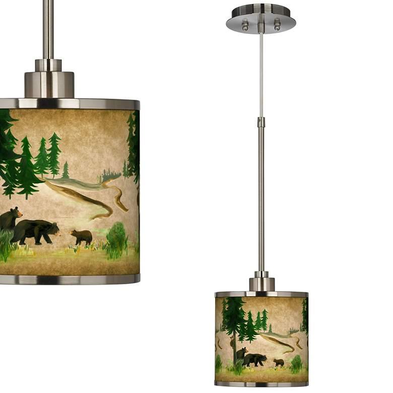 Bear Lodge Giclee Glow Mini Pendant Light
