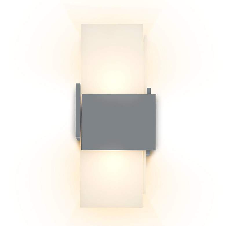 """Cerno Acuo 16 1/2"""" High Matte Gray LED Outdoor Wall Sconce"""