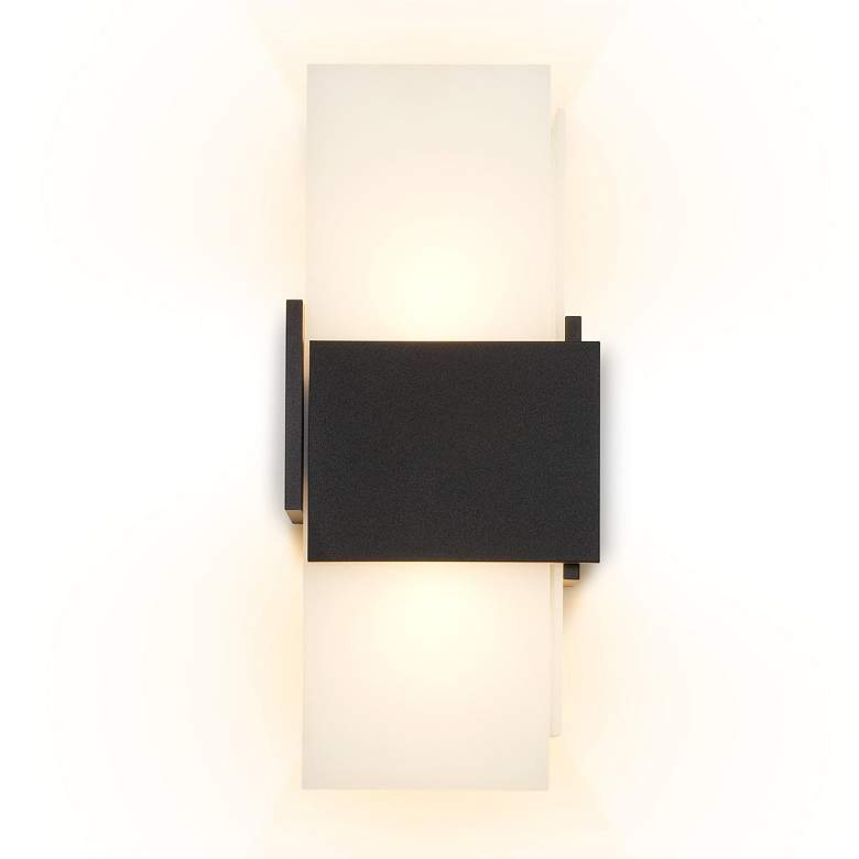 "Cerno Acuo 16 1/2""H Textured Black LED Outdoor"