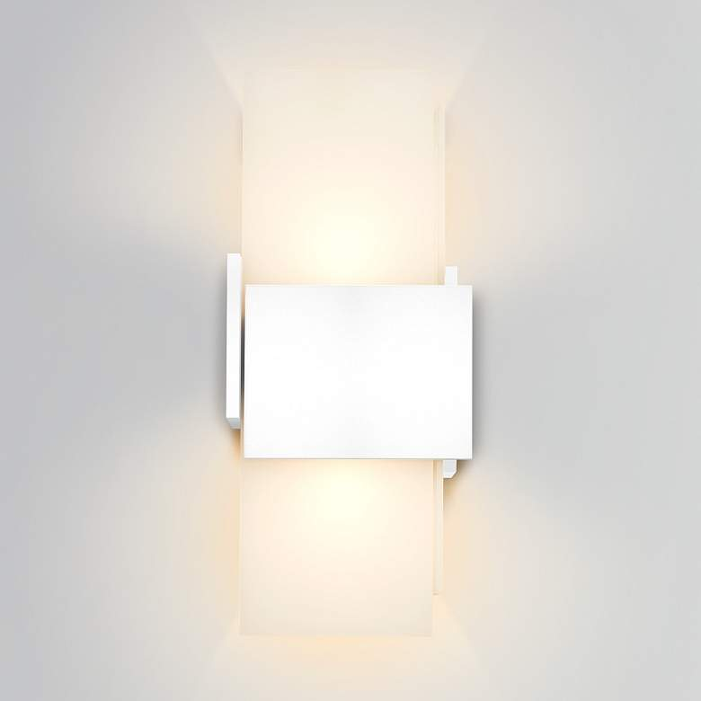 "Cerno Acuo 16 1/2""H Textured White LED Outdoor Wall Sconce"