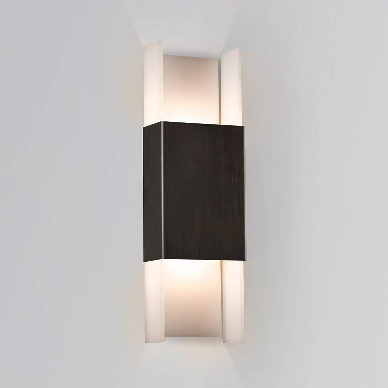 """Cerno Ansa 19 1/4""""H Antique Bronze LED Outdoor"""