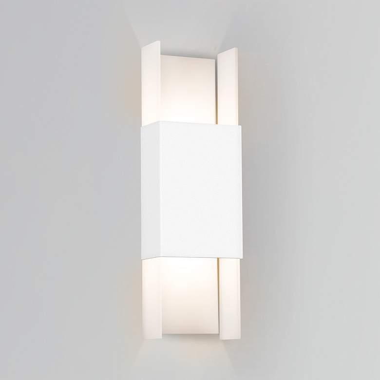 "Cerno Ansa 19 1/4""H Textured White LED Outdoor"