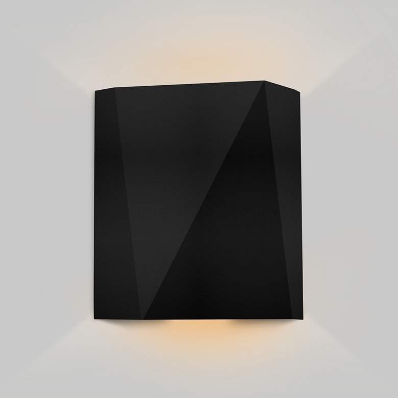 "Cerno Calx 9"" High Textured Black LED Outdoor"