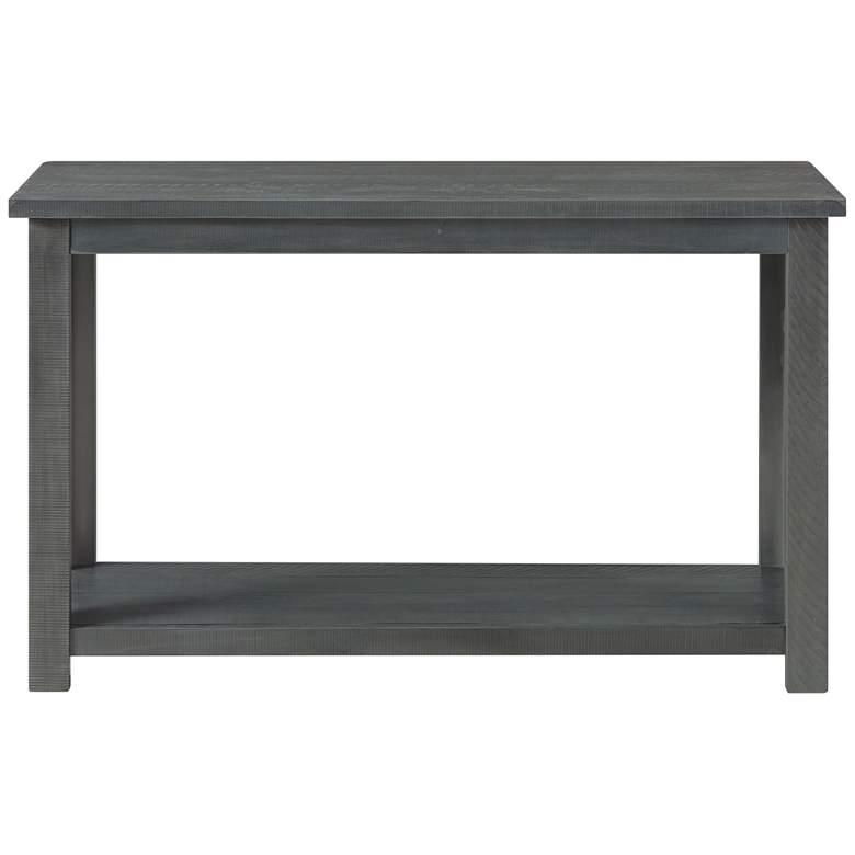 "Ventura 48"" Wide Gray Rectangular Wood Sofa Table"